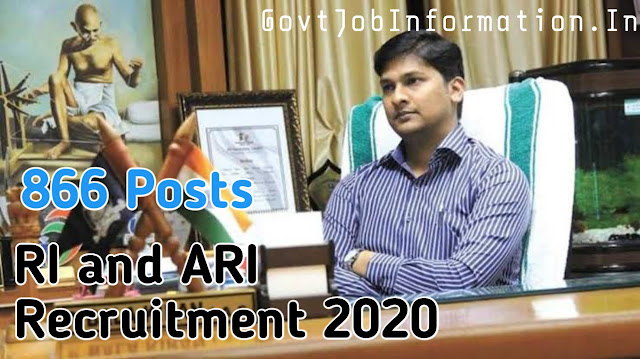 RI and ARI  Notification 2020 Official Circular Gone Viral -866 posts in Odisha