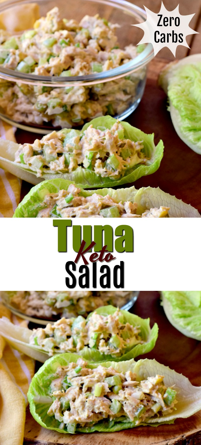 This Keto tuna salad is the perfect way to enjoy a delicious lunch, without any of those pesky carbs to mess up your diet! #keto #lowcarn #lchf #diet #glutenfree #tuna #salad #recipe | bobbiskozykitchen.com
