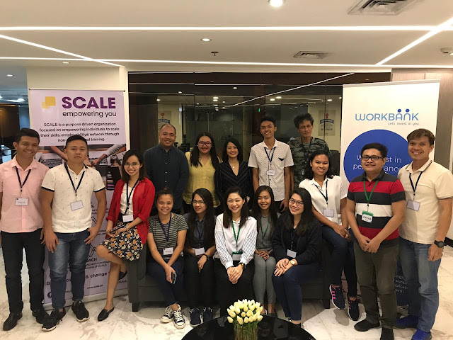 Workbank together with SCALE recently had a training program to empower Filipinos on having the right skill sets when job hunting. Included in this photo with the participants are Fe Nuñez, Workbank's Head of Marketing (third from the first row) and on her left is Carla Mumar, SCALE's Founder & CEO.