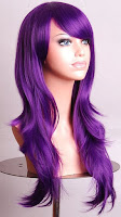 Sasha Banks Inspired Long Purple Wig