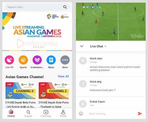 Nonton Streaming Siaran Eksklusif Asian Games 2018 Di Handphone