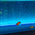 Underwater LED Lights and Bubble Wall Effect in Aquarium