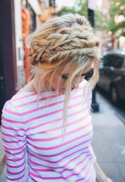 trendy summer braid hairstyle idea