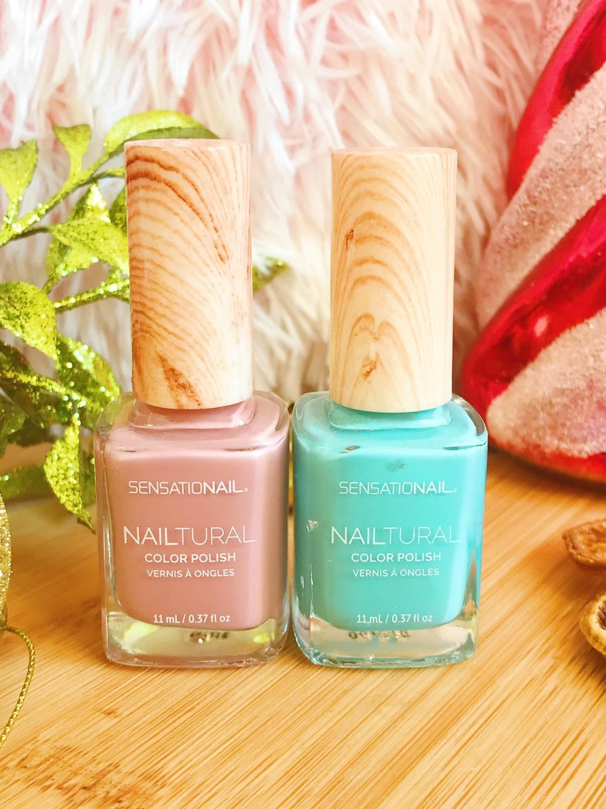 Sensationail nail polishes - pink and blue