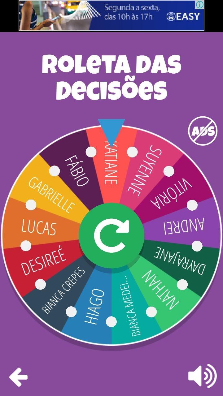 Roleta de decisoes