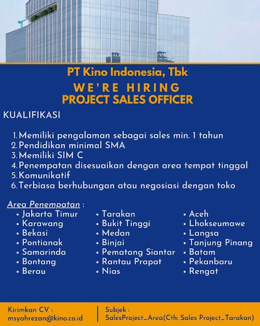 Lowongan Kerja Medan Mei 2021 Lulusan Sma Smk Di Pt Kino Indonesia Tbk
