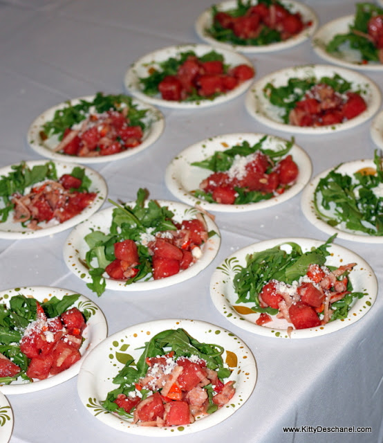 salad at the taos wine festival