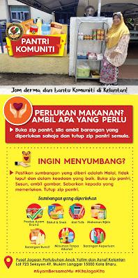 Pertubuhan Anak Yatim dan Asnaf Kelantan Bina Pantri Makanan #AyamWithYou untuk membantu Komuniti Mukim Langgar Kota Bharu