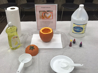 Pumpkin Science activities for kids, pumpkin volcano