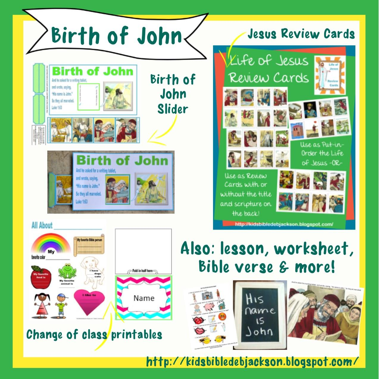 Bible Fun For Kids Cathy S Corner John The Baptist A Special Voice