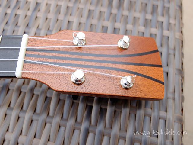 DJ Morgan Soprano ukulele headstock