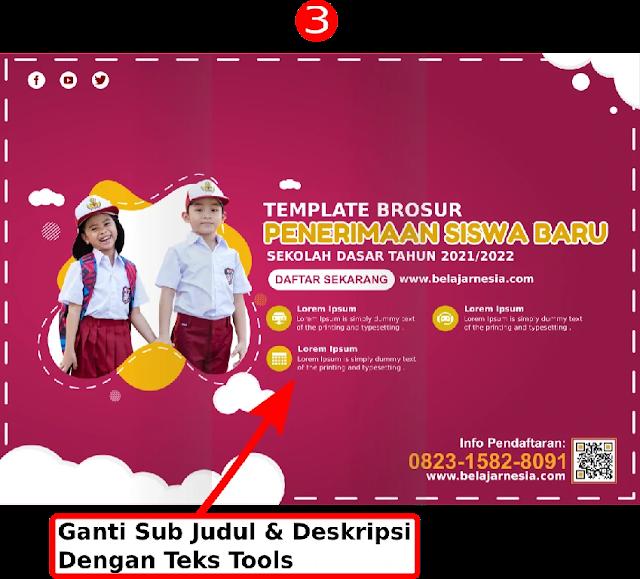 Free Template : Cara Desain Brosur Sekolah Dasar Comp Coreldraw Beserta Filenya