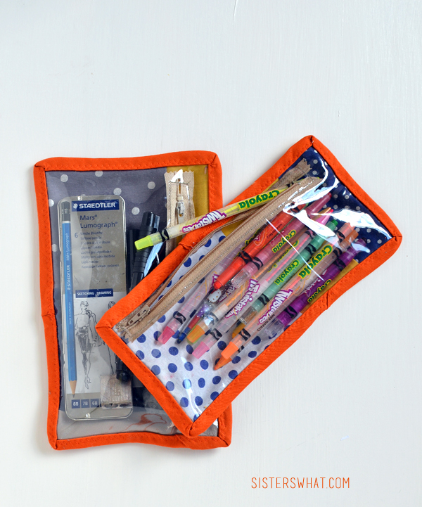 see through zipper pouch