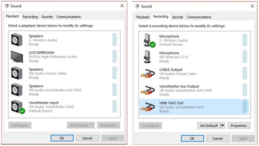 vb audio cable settings