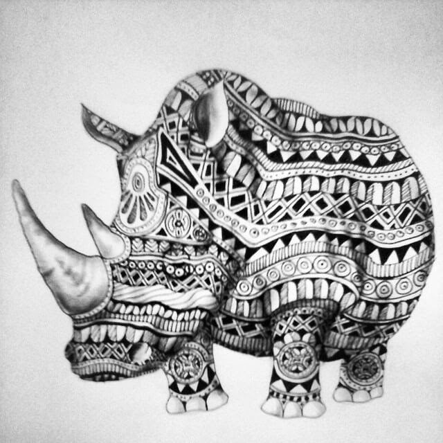 11-Rhino-Savanna-Zentangle-Wild-Animal-Drawings-www-designstack-co