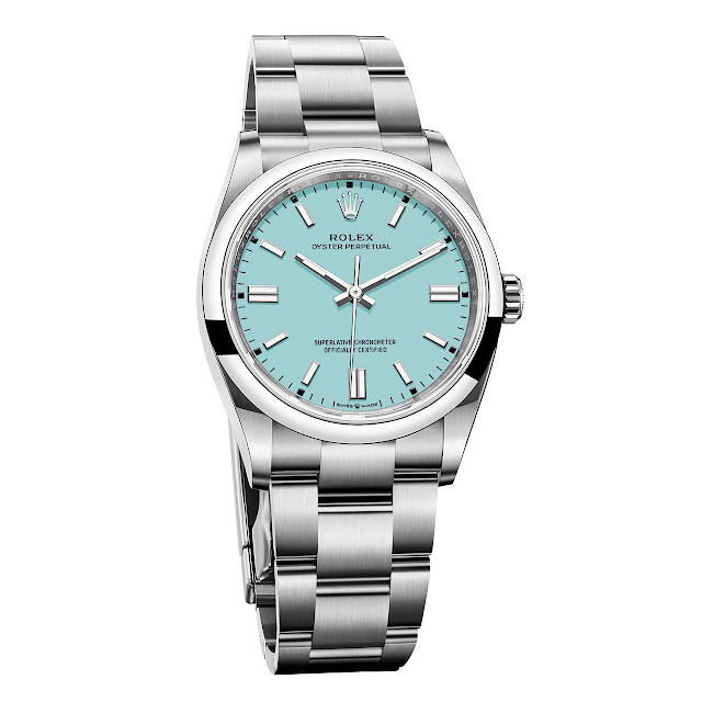Rolex Oyster Perpetual 36 mm Turquoise Blue