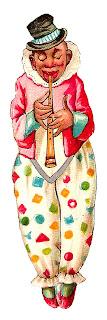 circus clown vintage clipart digital download norwegian image