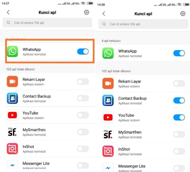cara mengunci WhatsApp dengan pola