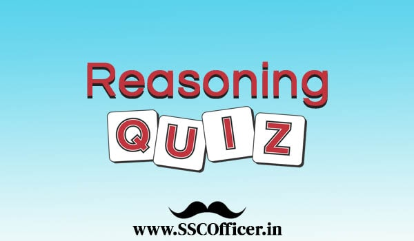 SSC Logical Reasoning Questions Quiz PDF Download