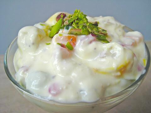 Fruit-raita-with-vanilla-ice-cream