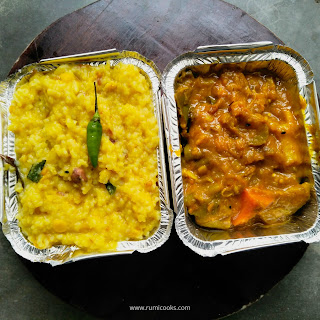 Dal Khichuri and Labra sabzi
