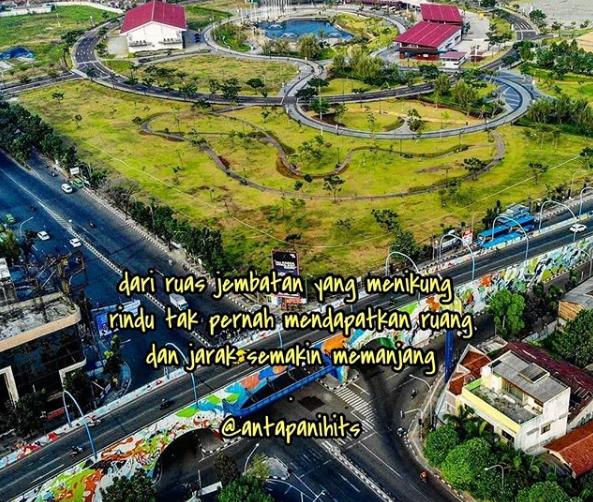 Air Mancur Warna Menari Kiara Artha Park Bandung
