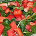 Watercress, watermelon and strawberry  Salad