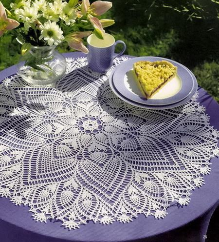 Crochet Doily ,  Pineapple Doily