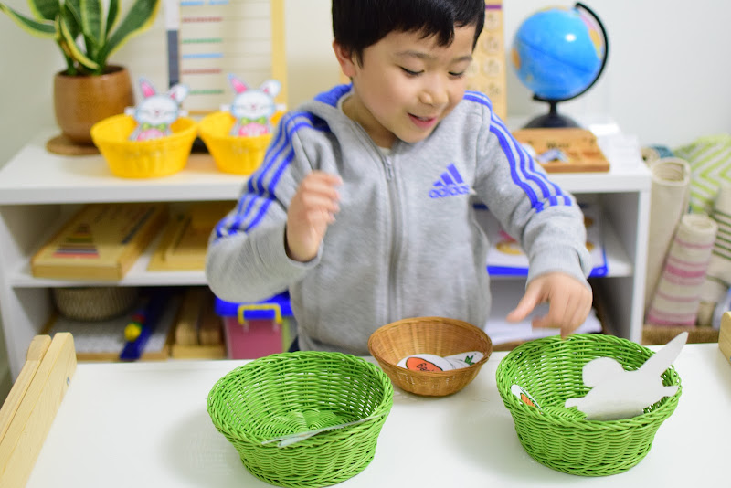 Easter Theme Unit: CVC Middle Sound Sorting