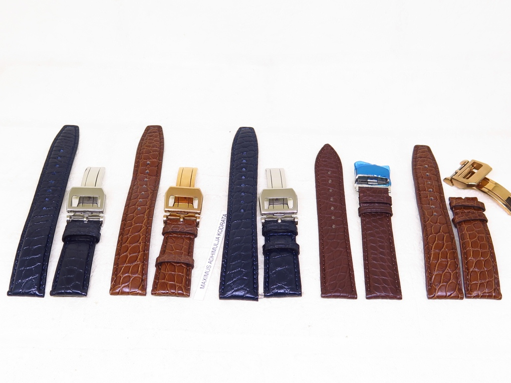 2 - STRAPS GENUINE ALLIGATOR LEATHER STRAP 20MM AND 22MM - CODE CB1/5 - CB5/5