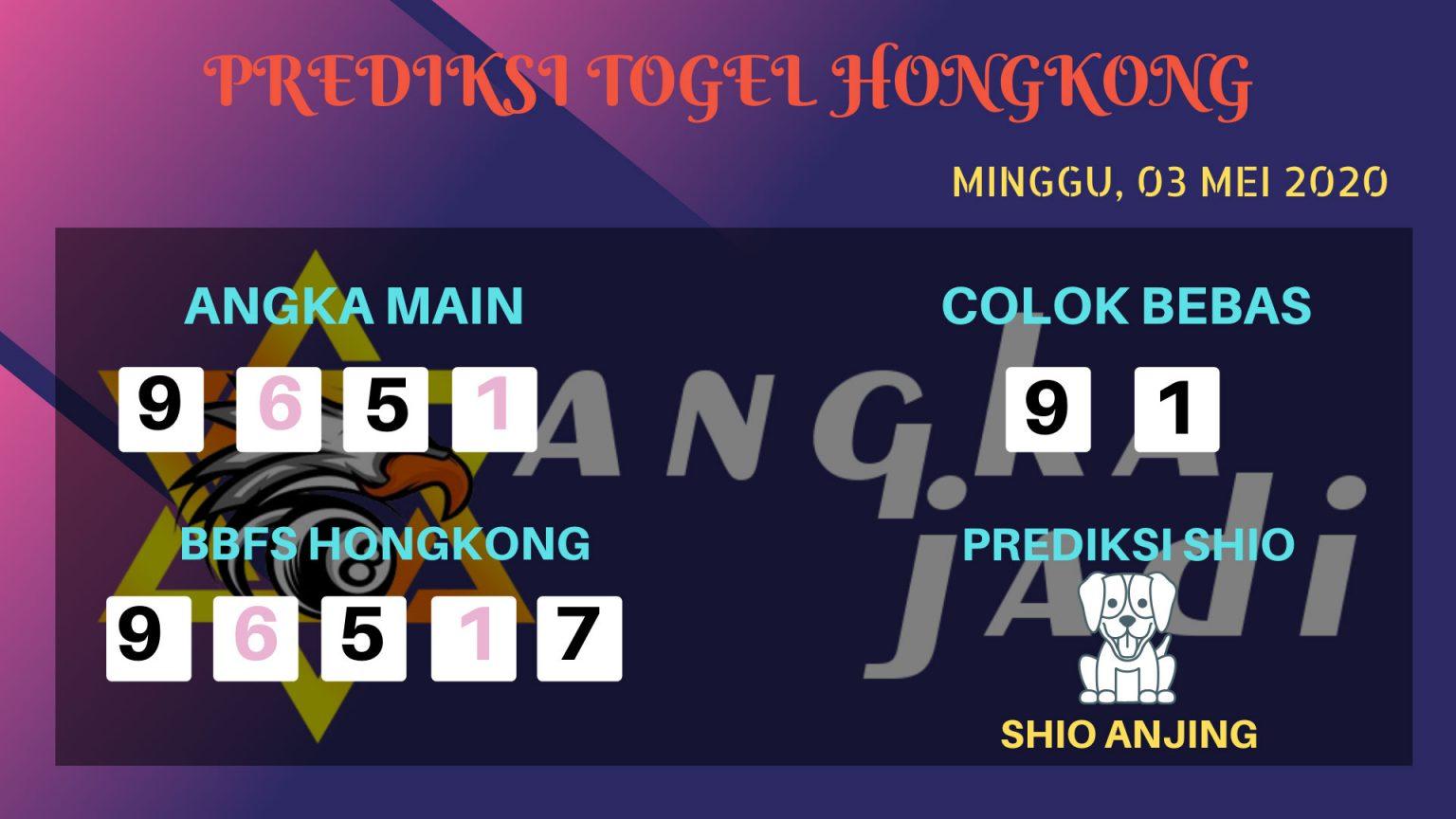 Prediksi Togel Hongkong 03 Mei 2020 - Prediksi Angka Jadi HK