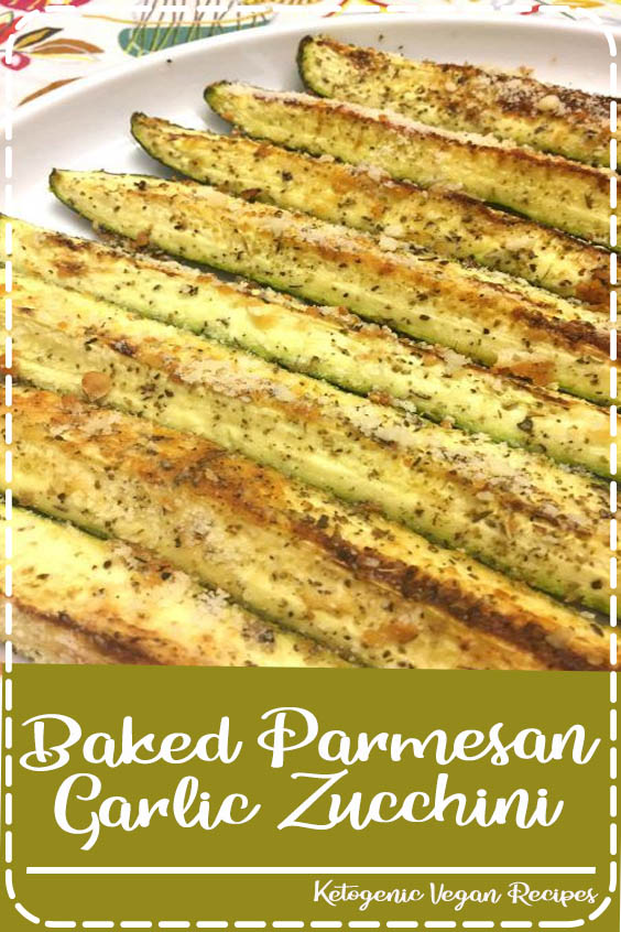 These Parmesan garlic baked zucchini wedges are absolutely amazing Baked Parmesan Garlic Zucchini