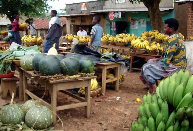 Market day in Uganda Africa