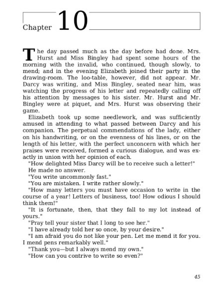 pride and prejudice chapter 1 pdf