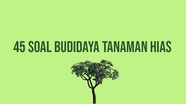 45 Soal Budidaya Tanaman Hias dan Jawabannya
