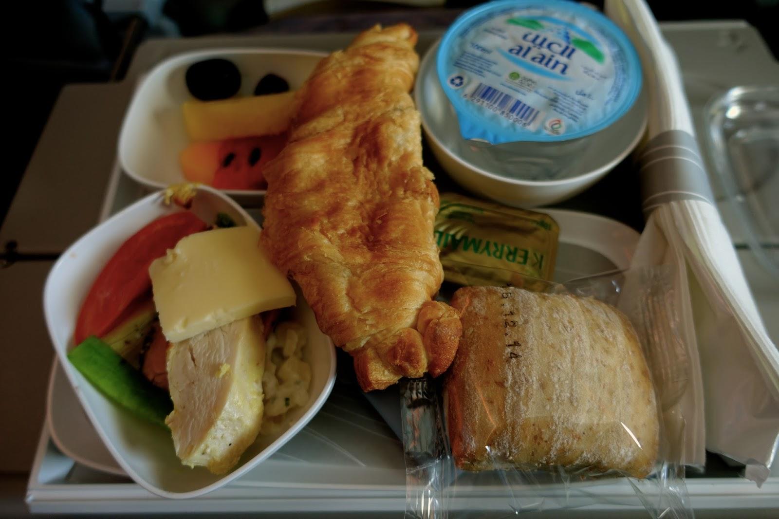 エミレーツ航空EK185 機内食1 朝食