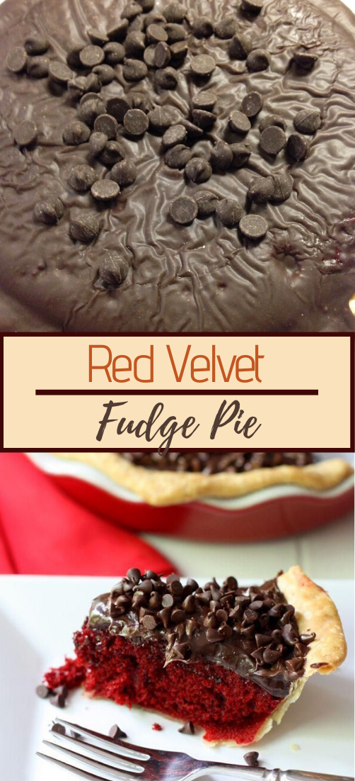 Red Velvet Fudge Pie #dessertrecipe #chocolatecake #cheesecake #cookiessimplerecipe