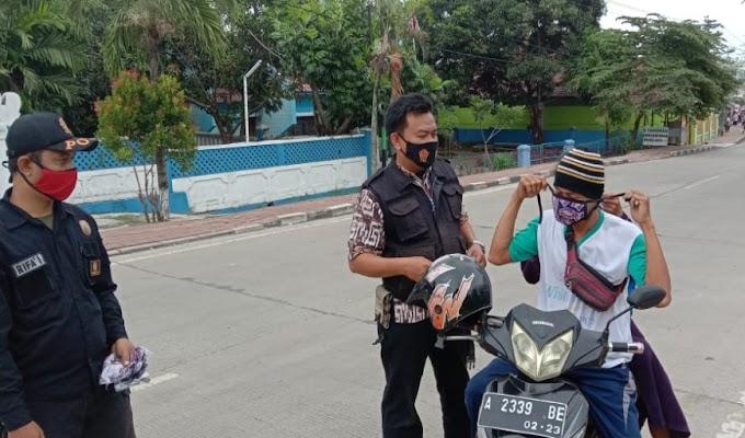 Cegah Penyebaran Covid-19, Tim Gugus Tugas Kecamatan Kramatwatu Gelar Pendisiplinan Prokes