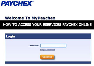 How to access your eservices paychex online