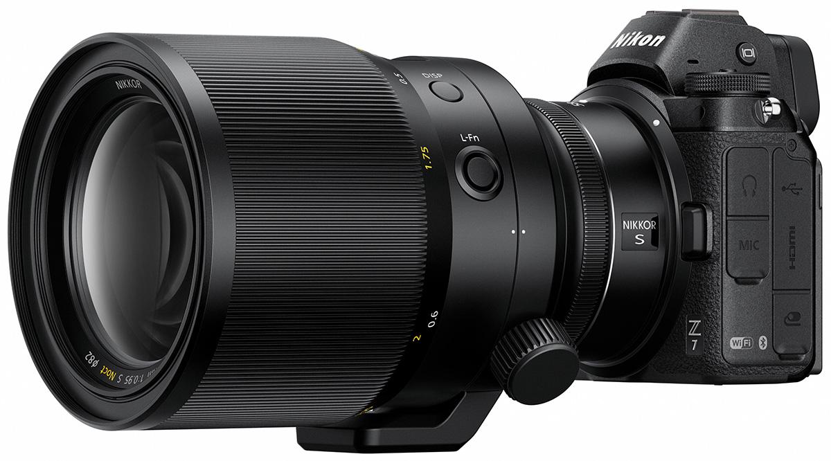 Объектив Nikon Z-Noct-Nikkor 58mm f/0.95 с камерой Nikon Z7