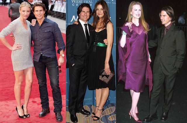 Tom Cruise with Cameron Diaz, Katie Holmes and Nicole Kidman