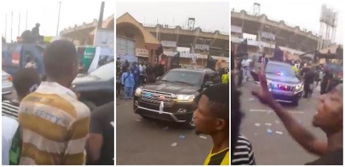 Sanwo-Olu's Convoy Booed At Teslim Balogun Stadium: Aide Breaks Silence