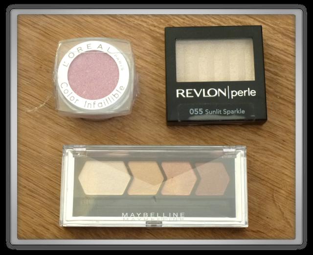 remakeup maybelline revlon loreal eyeshadow