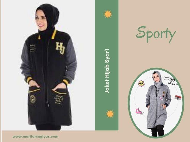 jaket hijab muslimah sporty