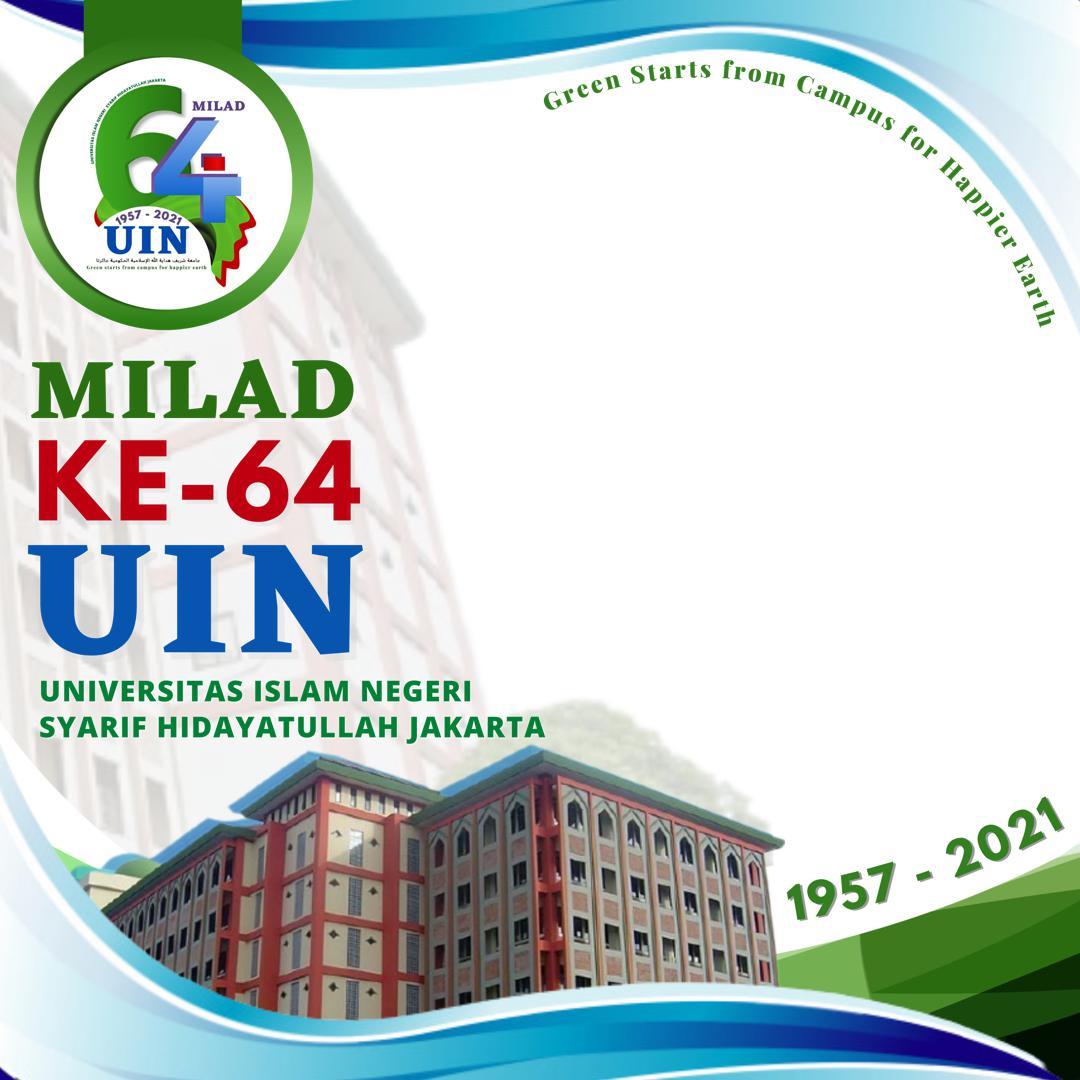 Download Bingkai Twibbon Milad UIN Jakarta 2021