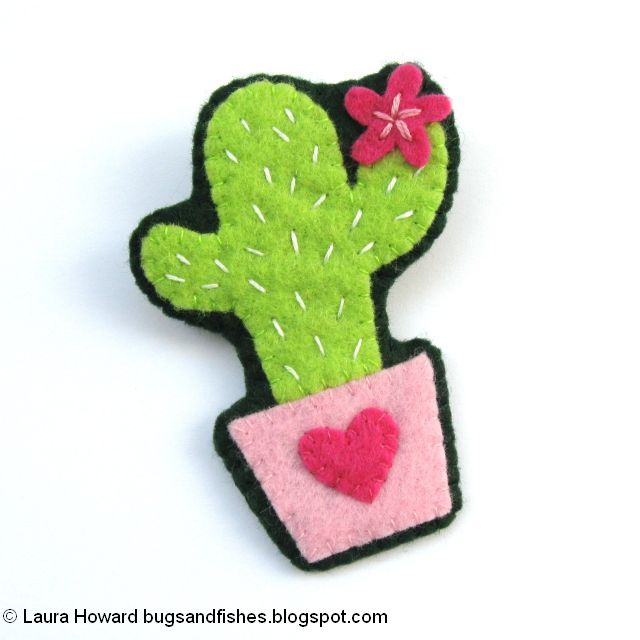 Plant Lady Brooches: Felt Cactus Brooch Tutorial