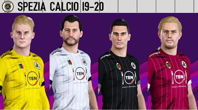PES 2020 Spezia Calcio 19-20 Kits by VinVanDam13