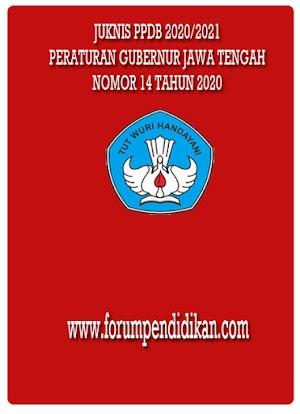 Isi Juknis PPDB Provinsi Jawa Tengah 2020/2021