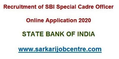 Recruitment of SBI SCO Online Form 2020
