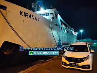 Kirim mobil Honda Mobilio dari Surabaya tujuan ke Sampit door to port dengan Kapal Roro, estimasi perjalanan 2 hari.